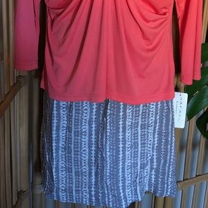 Eddie Bauer Skirt XL NWT Grey White
